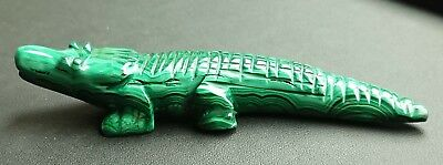 Malachite 82 grammes crocodile - Natural crocodile Malachite
