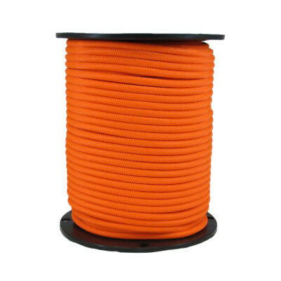 1/4″ 250 ft Bungee Shock Cord Neon Orange Marine Grade Heavy Duty Shock Rope