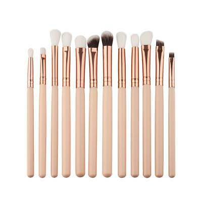 Durable 12Pcs/set Eye Shadow Brush Kit Foundation Cosmetic MakeUp Tool CZ #L