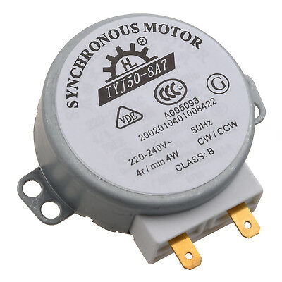 Microwave Oven Turntable Synchronous Motor 4W AC 220-240V 4 RPM CW/CCW J9L7