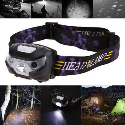 USB Mini Rechargeable LED Headlamp 3000Lm Body Motion Sensor Camping Headlight