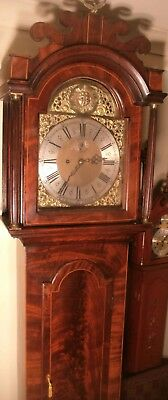 "Antique Mahogany "" Derby ""  Automation Eyes  Longcase / Grandfather Clock"