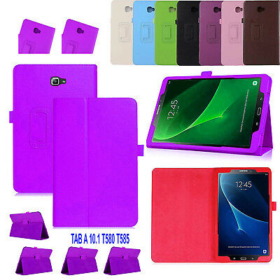 New Leather Tablet Stand Flip Cover Case For Samsung Galaxy Tab A 10.1 T580 T585