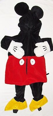 NEW DISNEY STORE-MICKEY MOUSE HALLOWEEN COSTUME-6-12m BABY BOY GIRL-PLUSH VELOUR