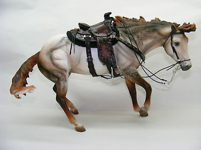 Breyer Custom/Cm Western Saddle set by PZ18