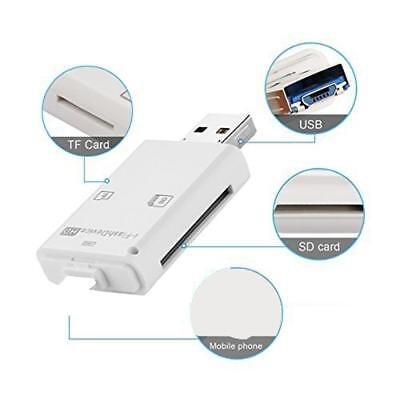 i Flash Drive Lighting Reader TF/SD Memory Card for PC iPhone/8/7/6 iPad,