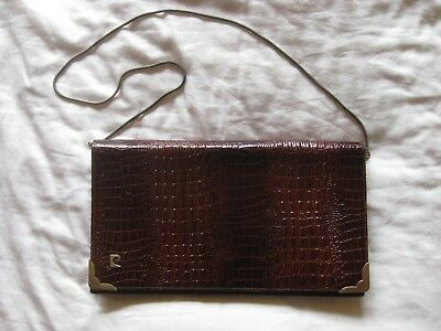 top fashion good texture no sale tax HANDTASCHE PIERRE CARDIN Clutch Leder moc croc Krokodil ...