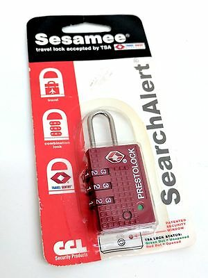 New Sesamee SearchAlert 3 Dial Resettable Combination Tsa Approved Travel Lock
