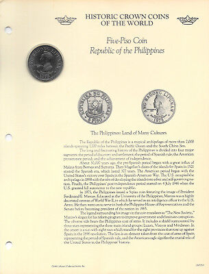 Historic Coins of World Philippines 1975 5 Piso UNC Ferdinand Marcos