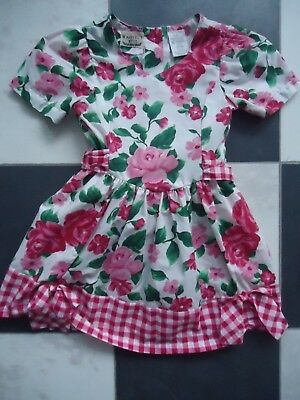 Vintage Rose Floral Shabby Chic Rachel's Kids Dress Size 5