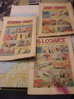 Original Wwii Us Gi Armed Services Comics For Troops Lot Of 3 - Flash Gordon Etc