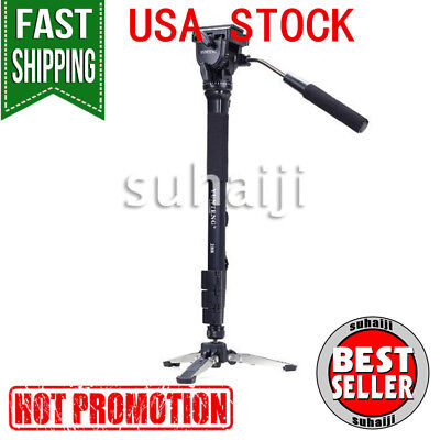 Yunteng VCT-288RM Monopod Tripod with Fluid Pan Head for DSLR DV Camera Photogra