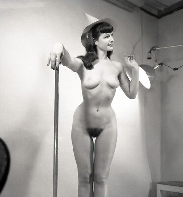 Bettie Page nude pinup 8x8 print 031