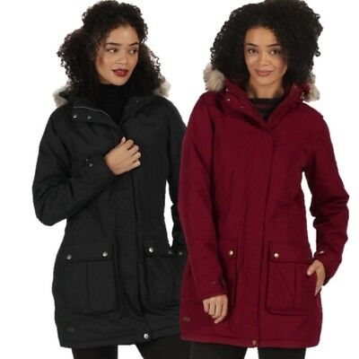 REGATTA LADIES SCHIMA II WATERPROOF INSULATED PARKA JACKET BLACK or RED RWP238