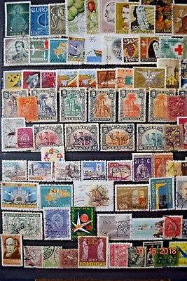 Symphony in Stamps     PORTUGAL  -  LOT  of  80   Used