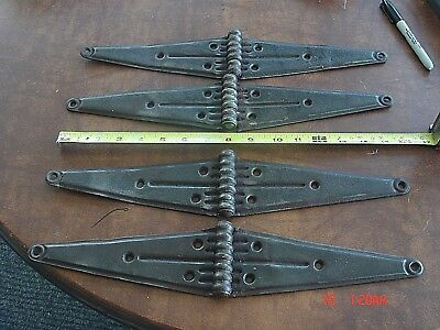 Four Vintage  Large  16 Inch Strap Hinges Rustic Steampunk Barn Door Gate