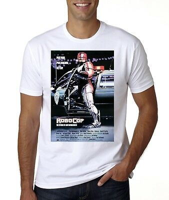 New Robocop Movie Poster T-Shirt Sizes  From Med -3Xl