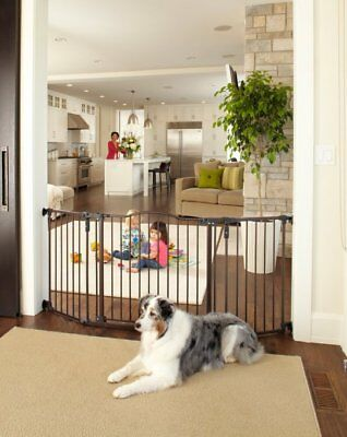 North States Deluxe Decor Baby/Pet Metal Gate, Matte Bronze (Open Box)