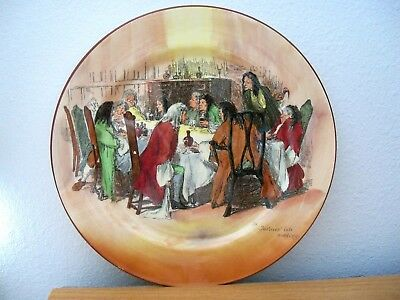 Royal Doulton Collector RACK Plate  THE JUSTICES' LATE MEETING