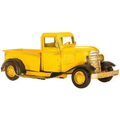 Cute YELLOW PICKUP Metal Vintage TRUCK Farmhouse. Old Days. Great Gift