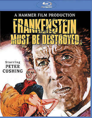 Frankenstein Must Be Destroyed (Blu-ray Disc, 2015) New but slashed UPC