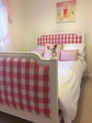 Shabby Chic Upholstered Small Double Bed
