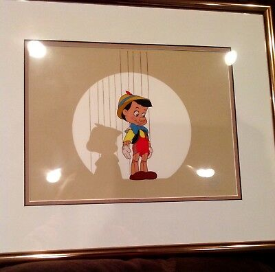 "Disney Art- Sericel - ""Pinocchio on ""Stage"
