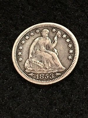 1853 Seated Half Dime - XF