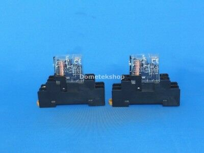 Omron G2R-2-SND Relay with base (Lot of 2)