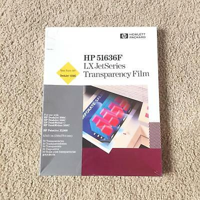 HP 51636F Transparency Film LX Jet Series 8.5x11 in Office Supply