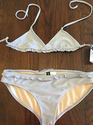 Ralph Lauren Bikini Swimsuit W/ Ruffle Detail BNWT Size 14 Years $50