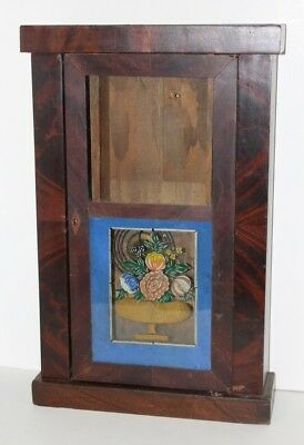 #38 Antique Chauncey Jerome Flat Empire Style Clock Case C 1850.