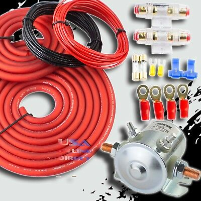 300 Amp Heavy Duty Dual / Auxiliary Battery Isolator Copper Cables Complete Kit