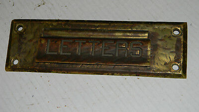 Vintage Brass Hinged Letter Door Mail Slot