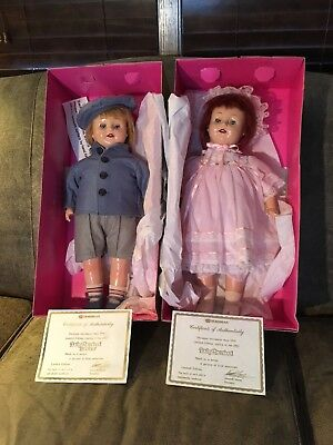 Vintage 1991 Horsman Brother and Sister Dolls Limited Edition 1925 Replica Boxed