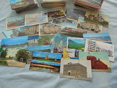 Vtg old postcards lot of 25 Random mix USA places ~ buildings ~  1920s to '70s