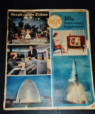 RCA 1959 NY Tribune 40th Anniversary Supplement~ 20 pages of History,Photo's