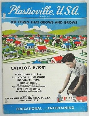 Vintage Plasticville Usa Bachmann Bros Inc Catalog B-1951 Old Store Stock