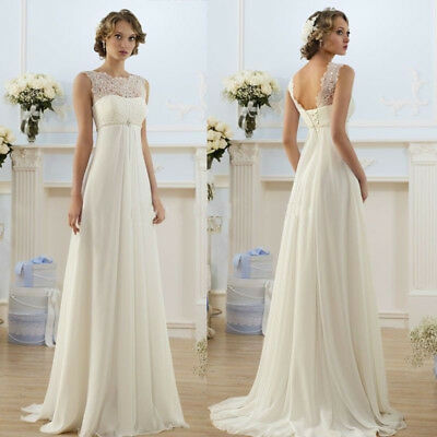 Hot New White/Ivory Lace Wedding dress Bridal Gown stock Size:6/8/10/12/14/16/18
