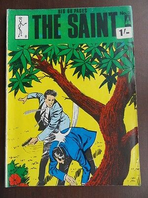 The Saint comic Thorpe and Porter RARE 1960s 68 pages No 3 with two stories