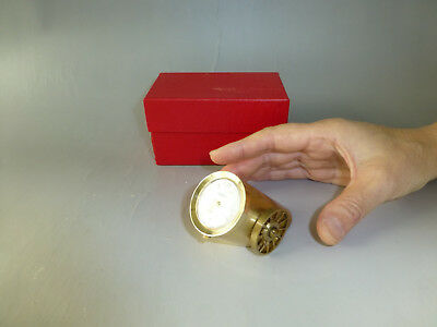 Rare Vintage Swiss Art Deco ARNEX Brass Canon Desk Watch/Clock Date (See Video)