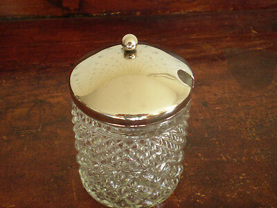 Anchor Hocking Wexford Marmalade Jar w/ Metal Slotted Cover