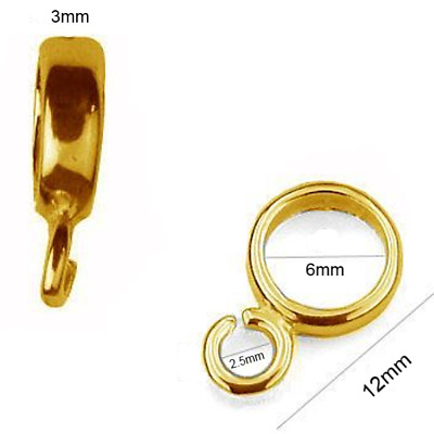 24K Gold Plated Sterling Silver 12mm Spacer Beads Jewellery Making PK1 PK5