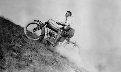 Vintage Indian Motorcycle Hill Climb 8x10 Photo Reprint High Quality!