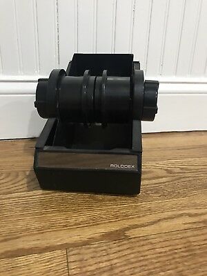 Vintage Rolodex Metal Rotary Address File MidCentury Industrial Office