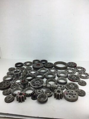 Industrial Machine Age Steel Lot 49 ~Gears/Cogs Steampunk Art Parts Lamp Base