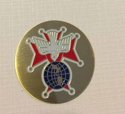 Knights Of Columbus 4Th Degree 2 Inch Etched Enameled Logo With Adhesive K C