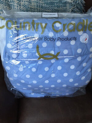 Country Cradles Blue Dotted Footmuff - Never used