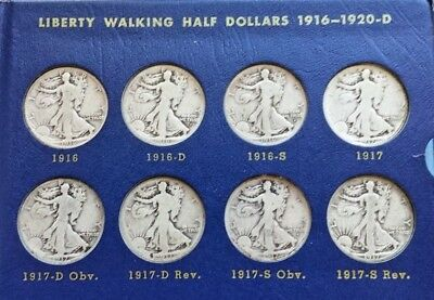 Walking Liberty Halves Album Whitman 9423 * 1916 - 1940 Missing Only 1921D