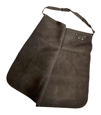 New Deluxe Leather Farriers Apron Black 1 size quick waist buckle FREE POSTAGE